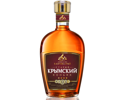 Коньяк Бахчисарай Старый Крымский четырехлетний 0,5л