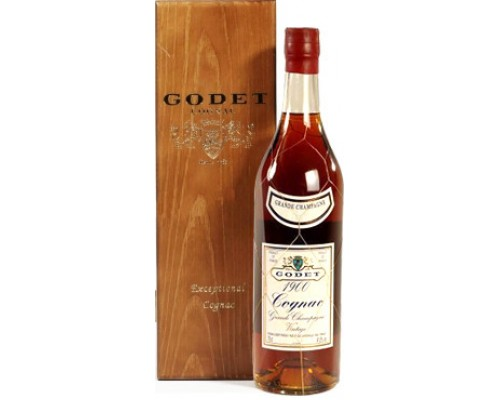 Коньяк Godet Vintage Grande Champagne AOC 1974 wooden box 0.7 л