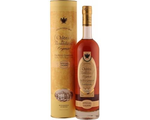 Коньяк Chateau de Montifaud Napoleon Special Sigare Fine Petite Champagne AOC gift tube 0.7 л
