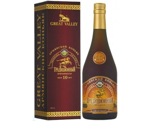 Коньяк Great Valley Traditional 10 Years Old gift box 0.5 л