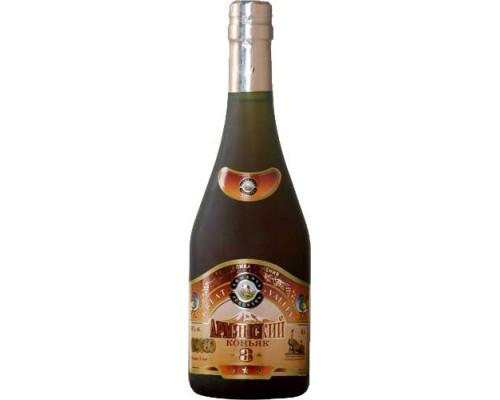 Armenian Cognac Great Valley 3 Stars 0.5 л