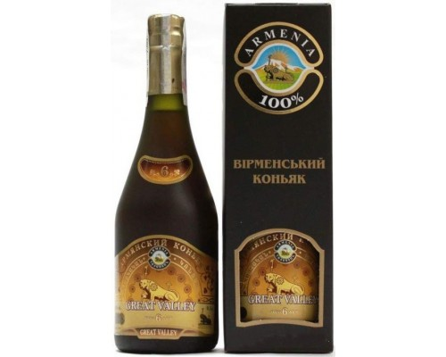 Armenian Cognac Great Valley 6 Years Old gift box 0.5 л