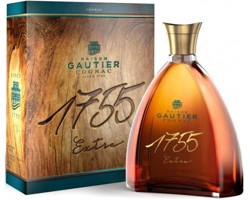Коньяк Gautier X.O. Extra 1755 gift box 0.7 л