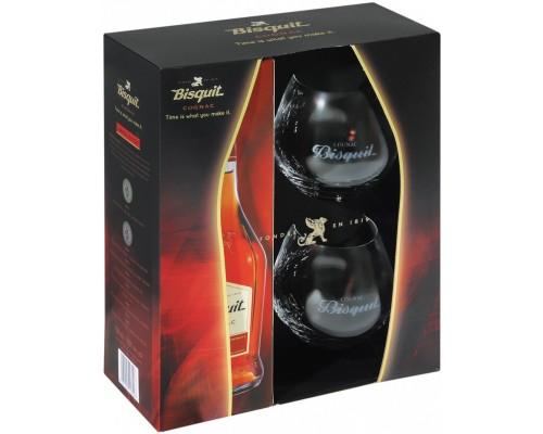 Коньяк Bisquit Classique VS gift set with 2 glasses 0.7 л