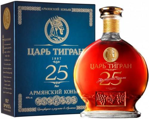 Коньяк Царь Тигран 25-летний в подарочной коробке 0.7 л