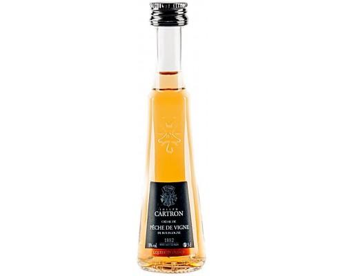 Ликер Joseph Cartron Creme de Peche de Vigne de Bourgogne 30 мл