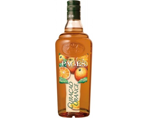 Ликер Pages Curacao Orange 0.7 л