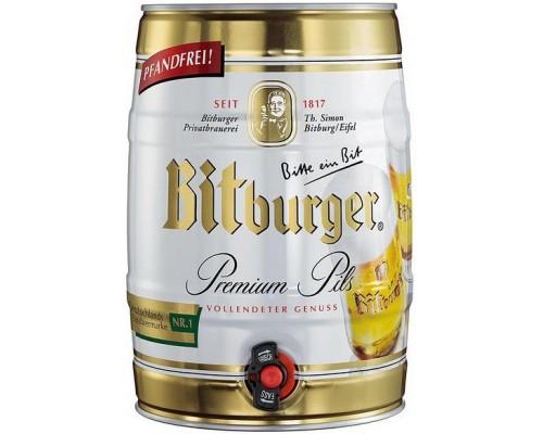 Пиво Bitburger Premium Pils mini keg 5 л