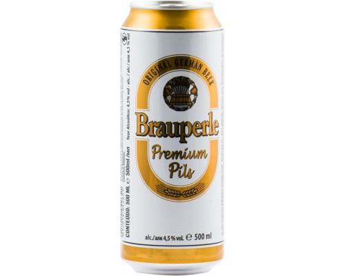 Пиво Brauperle Premium Pils in can 0.5 л