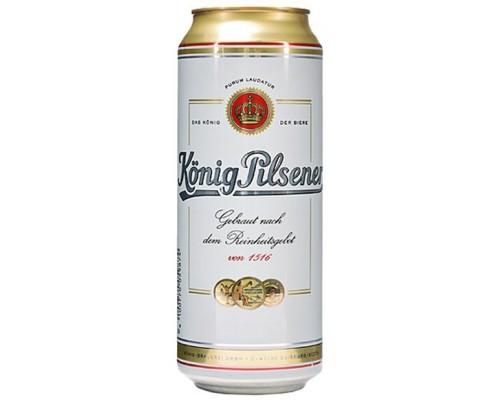 Пиво Konig Pilsener in can 0.5 л