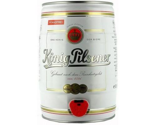 Пиво Konig Pilsener mini keg 5 л
