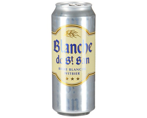 Пиво Blanche de St. San Witbier in can 0.5 л