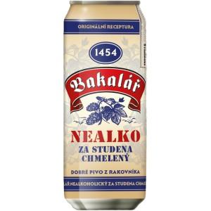 Пиво Bakalar Nealko Za Studena Chmeleny in can 0.5 л