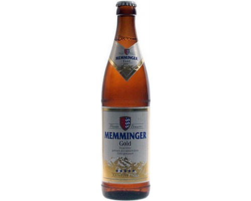 Пиво Memminger Gold 0.5 л