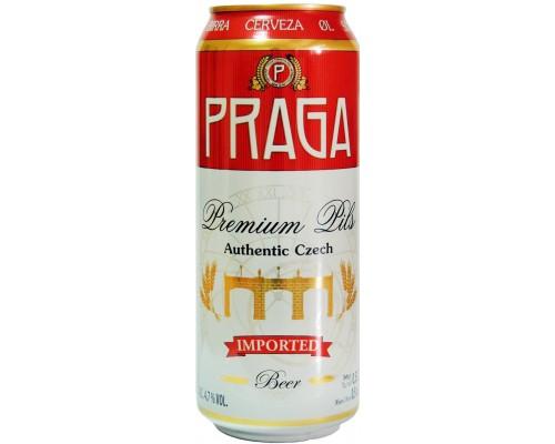 Пиво Praga Premium Pils in can 0.5 л