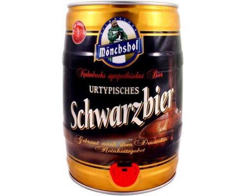 Пиво Monchshof Schwarzbier mini keg 5 л
