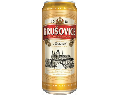Пиво Krusovice Imperial in can 0.5 л