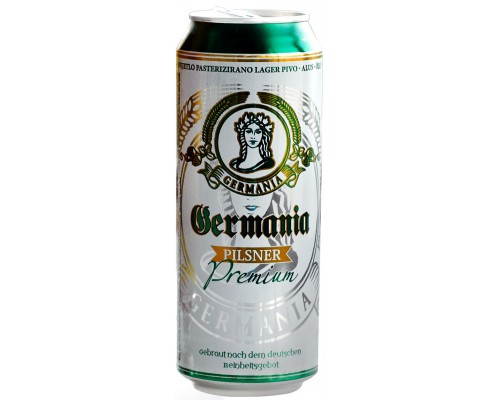 Пиво Germania Pilsner in can 0.5 л
