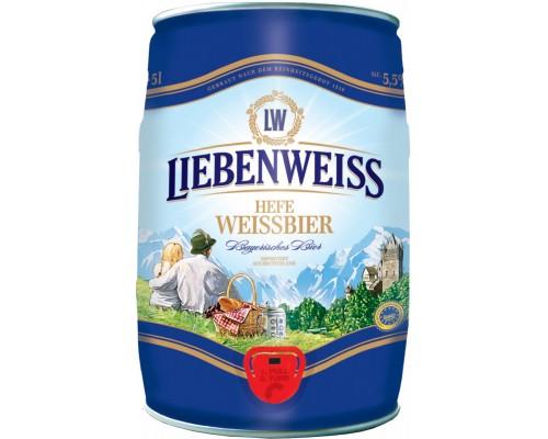 Пиво Liebenweiss Hefe-Weissbier mini keg 5 л