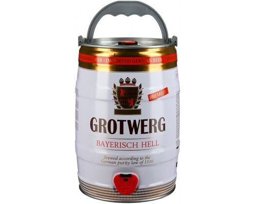 Пиво Grotwerg Bayerisch Hell mini keg 5 л