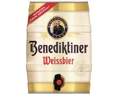 Пиво Benediktiner Weissbier mini keg 5 л
