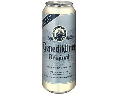 Пиво Benediktiner Original Hell in can 0.5 л