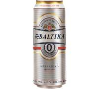 Пиво Балтика №0 Безалкогольное в банке 0.5 л