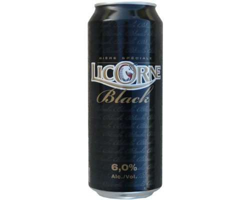 Пиво Licorne Black in can 0.5 л