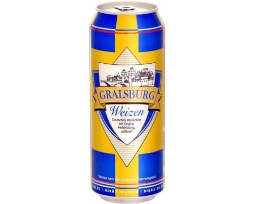 Пиво Gralsburg Weizen in can 0.5 л