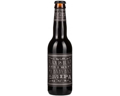 Пиво Flying Dutchman Black is Black And I Want My Baby Back Black Rye IPA 0.33 л