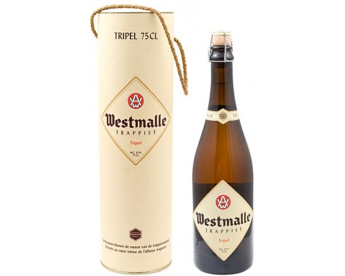 Пиво Westmalle Trappist Tripel in gift tube 0.75 л