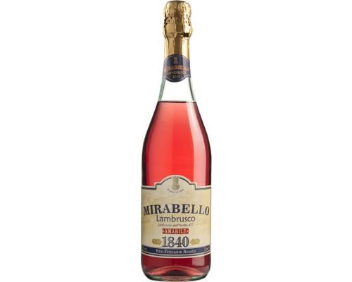 Игристое вино Chiarli 1860 Mirabello Rosato Lambrusco dell'Emilia IGT