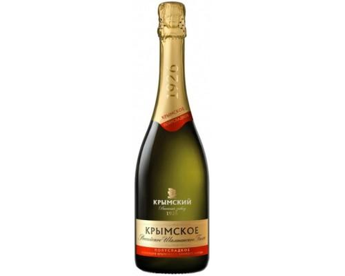 Игристое вино Российское Шампанское Крымское Полусладкое