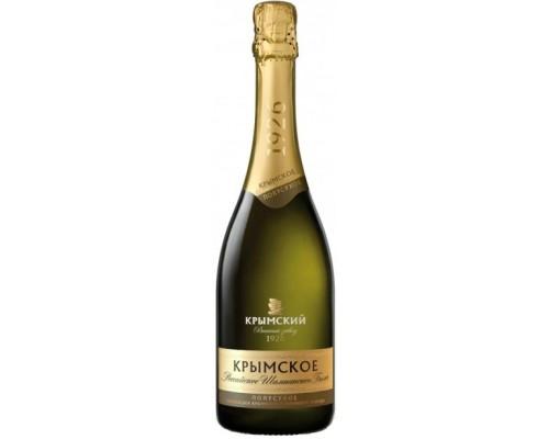 Игристое вино Российское Шампанское Крымское Полусухое