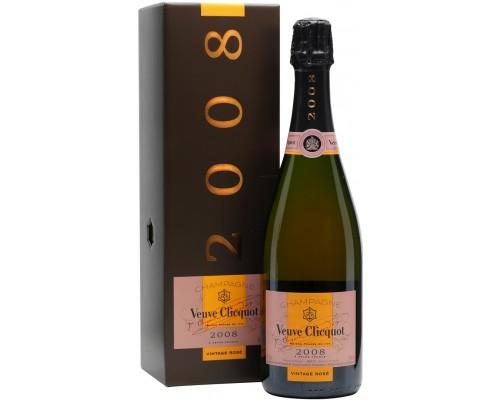 Шампанское Veuve Clicquot Vintage Rose 2008 in gift box