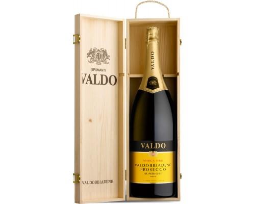 Игристое вино Valdo Marca Oro Prosecco di Valdobbiadene Superiore DOCG wooden box 3 л