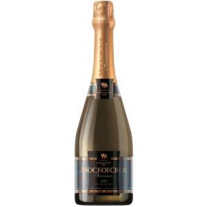 Игристое вино Российское шампанское Московское Элитное Брют
