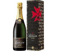 Шампанское Lanson Black Label Brut gift box