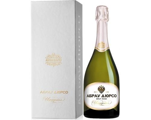 Игристое вино Абрау-Дюрсо Империал Брют Розе в подарочной коробке