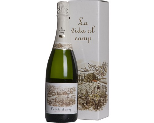 Игристое вино La Vida al Camp Cava Brut in gift box