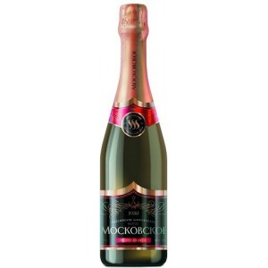 Игристое вино Российское шампанское Московское полусладкое