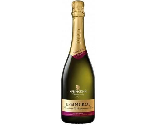 Игристое вино Российское Шампанское Крымское Сладкое
