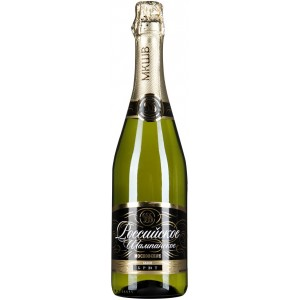 Игристое вино Российское шампанское Московское Брют