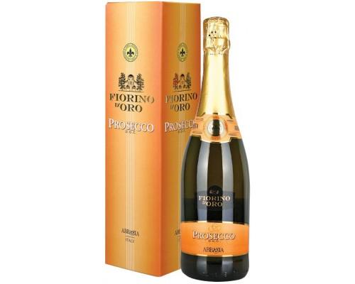 Игристое вино Abbazia Fiorino d'Oro Prosecco Spumante DOC gift box