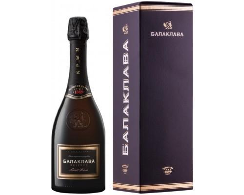 Игристое вино Балаклава Брют Розе Резерв в подарочной коробке