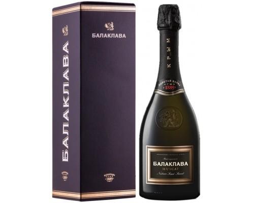 Игристое вино Балаклава Мускат Полусладкое в подарочной коробке