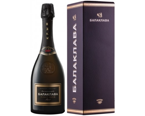 Игристое вино Балаклава Пино Нуар Брют Розе в подарочной коробке