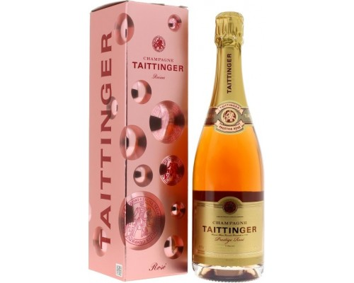 Шампанское Taittinger Prestige Rose Brut gift box