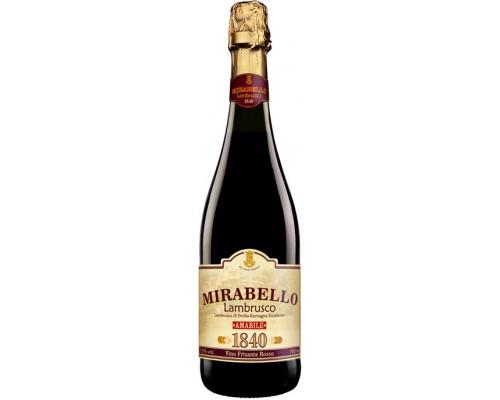 Игристое вино Chiarli 1860 Mirabello Rosso Lambrusco di Emilia-Romagna IGT