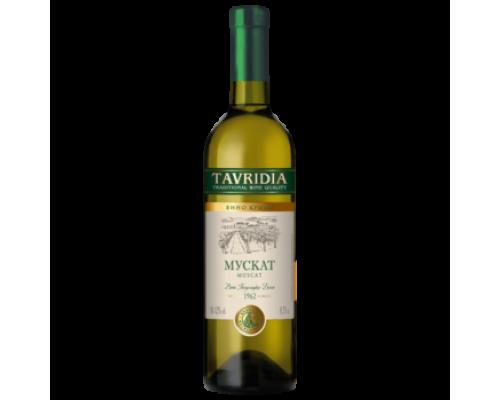 Вино Тавридия Мускат белое полусладкое 0,75 л